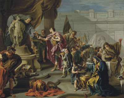 Giambattista Pittoni, 'Scipio paying homage to Mars'