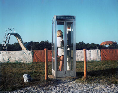 John Goodman, 'Woman, Phone Booth, Turro, from not recent color', 1980