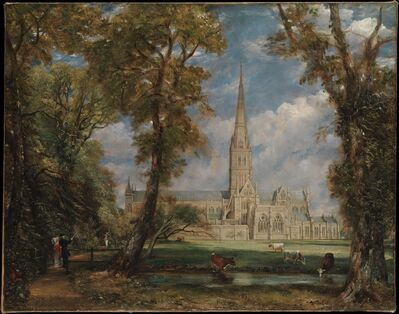 John Constable, 'Salisbury Cathedral from the Bishop's Grounds', ca. 1825