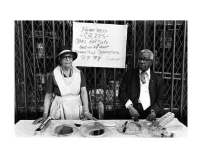 Dawoud Bey, 'A Man and Woman at an Outdoor Bake Sale, Harlem, NY', 1978