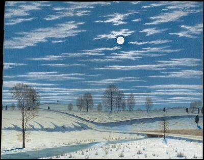 Henry Farrer, 'Winter Scene in Moonlight', 1869