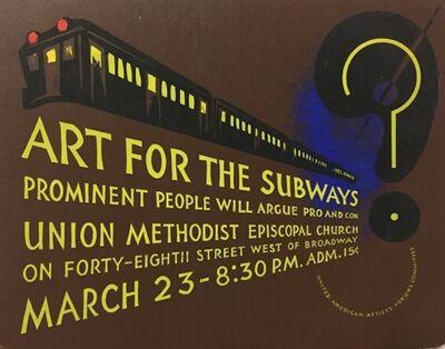 Anthony Velonis, 'Art for the Subways', 1937