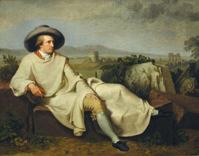 Johann Heinrich Wilhelm Tischbein, 'Goethe in the Roman Campagna', 1787