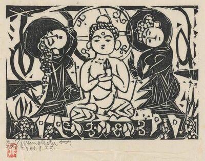 Shiko Munakata, 'GAUTAMA AND BODHISATTVAS', 1958
