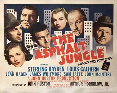 Film Poster, 'The Asphalt Jungle Lobby Card', 1950