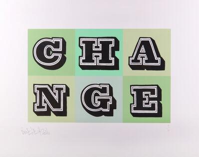 Ben Eine, 'Change (Green)', 2016
