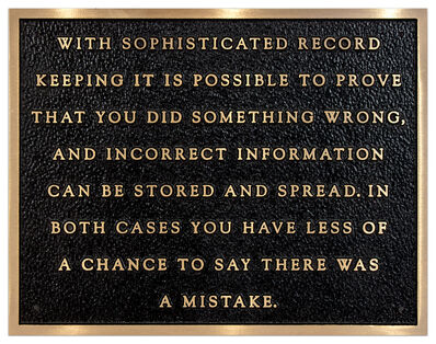 Jenny Holzer, 'Sophisticated Record...', 1980-82