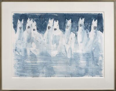 Stephen Pace, 'Untitled (Eight White Horses)', 1999