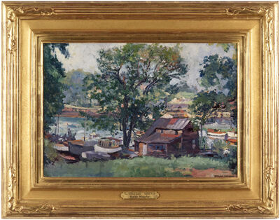 Waldo Park Midgley, 'The Old Boat House - Harlem River', ca. 1930