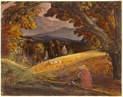 Samuel Palmer, 'Harvesters by Firelight', 1830