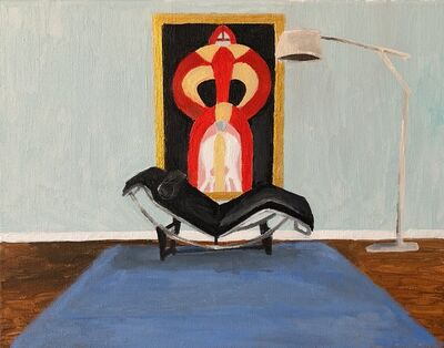 Polly Shindler, 'Le Corbusier Chair with Painting (Sophie Tauber)', 2018