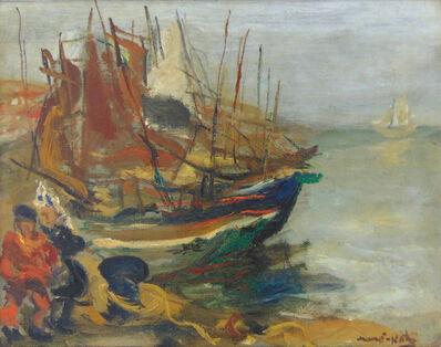 Mané-Katz, 'Fishermen by the Boats', 1941