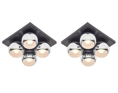 Angelo Lelii, 'Pair of Mirage ceiling lights, Italy'