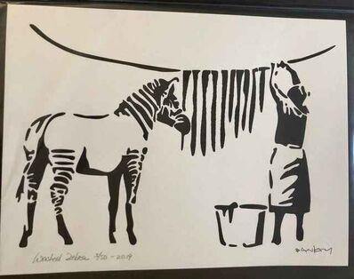 After Banksy, 'Washed Zebra', 2019