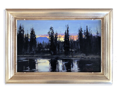Kate Starling, 'Evening Reflections (mossy lake, sunset, pine trees)', 2020