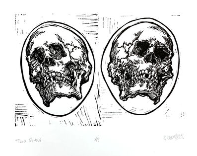 Scott Avett, 'Two Skulls', 2019