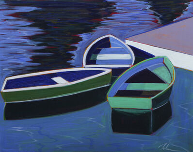 Melissa Chandon, 'Three Boats with Violet Dock', 2019