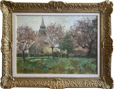 Louis Abel-Truchet, 'Le Paysage Avec Une Eglise', 1890-1913