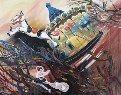K Blick, 'Friday night carousel', 2015
