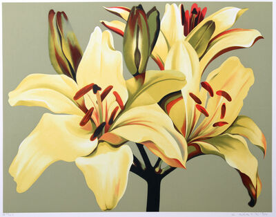 Lowell Nesbitt, 'Lilies in Green', ca. 1980