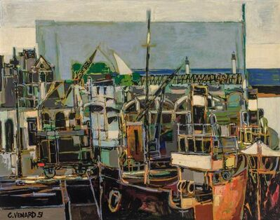 Claude Venard, 'Port Scene', 1951