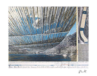 Javacheff Christo, 'Over The Arkansas River, Project U', 1992/2017
