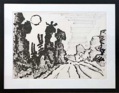 Karl Schmidt-Rottluff, 'Landschaft - Waldschneise im Taunus', 1963