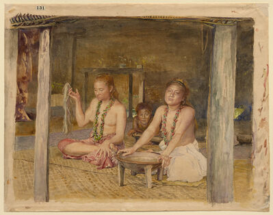 John La Farge, 'Siva with Siakumu Making Kava in Tofae's House', ca. 1893