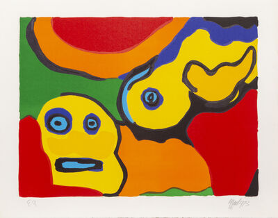 Karel Appel, 'Yellow Boy and Sun', 1973