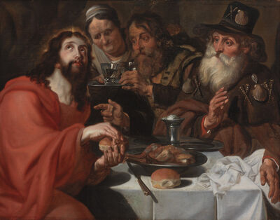 Jan Cossiers, 'The Supper at Emmaus', ca. 1650