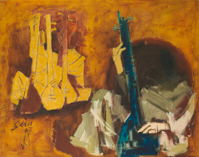 M. F. Husain, 'Untitled (Sitar Players)', 1970