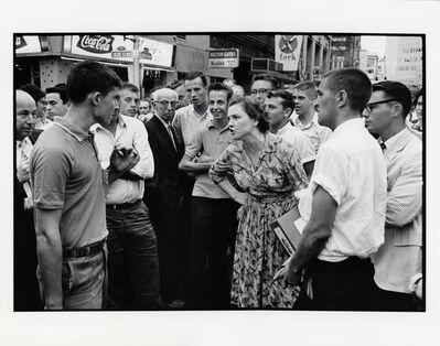 Danny Lyon, 'Woman Holds Off a Mob, Atlanta', 1963