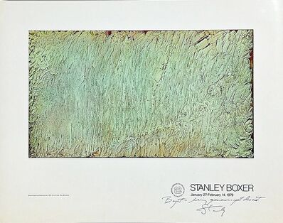 Stanley Boxer, 'Stanley Boxer at Andre Emmerich: Hand signed and Inscribed to the Director of the Andre Emmerich Gallery', 1979