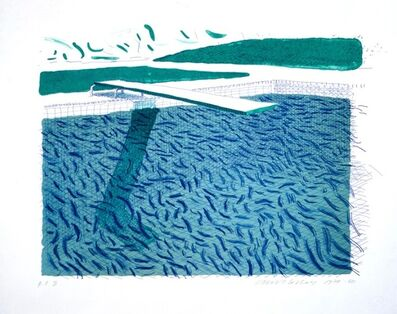 David Hockney, 'Lithographic Water made of Lines, Crayon, and a Blue Wash', 1978-1980