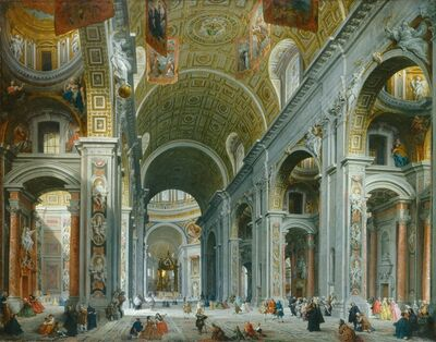 Giovanni Paolo Panini, 'Interior of Saint Peter's, Rome', ca. 1754
