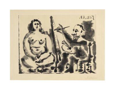 Pablo Picasso, 'Peintre et modèle. IV', 1963