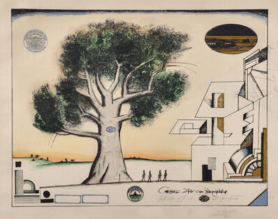 Saul Steinberg, 'The Tree, Nine Variations, No. 9', 1969