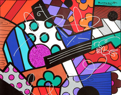 Romero Britto, 'The Guitar', 2019