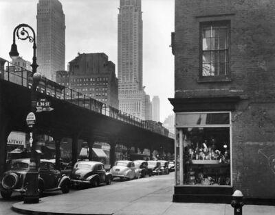 Brett Weston, 'Train Overpass, E 36th Street, New York', 1943