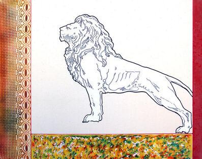 Renato Mambor, 'Animal slides - Leone in piedi', 2004