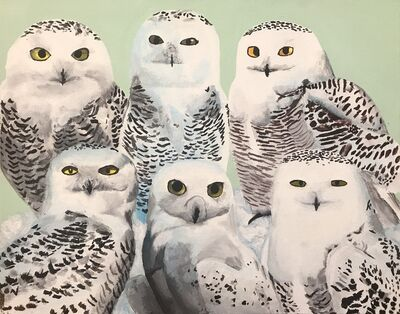 Myasia Dowdell, 'Group of Snowy Owls', 2018