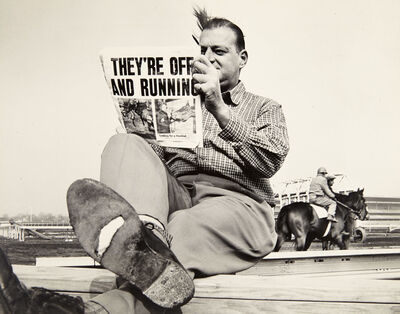 Ed Clarity, '[Man Reading Newspaper]', 1960