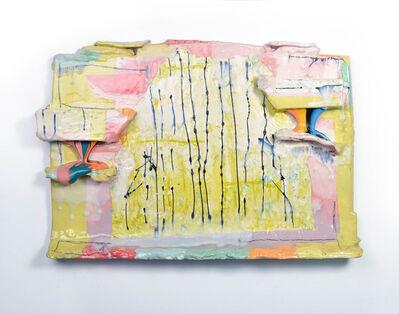 Lauren Mabry, 'Molten Veil Painting (Light Lime & Pink)', 2019