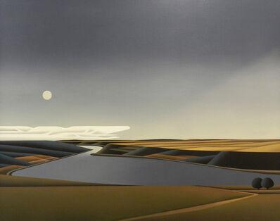 Jan Schüler, 'Mondaufgang Am Rhein', 2051