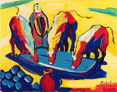 Harout Hakobyan, 'Drinking Cows', ca. 2000