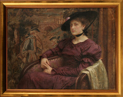 VLAHO BUKOVAC, 'Jelica à la Gainsborough', 1916