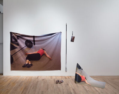 "Eva and Franco Mattes, 'Agreement #1 (Internet image search result for ""exhausted"" printed on various objects by online services)', 2014"