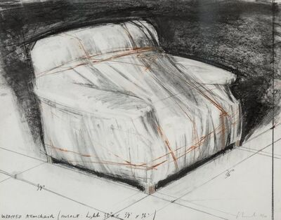 Christo, 'Wrapped Armchair', 1977