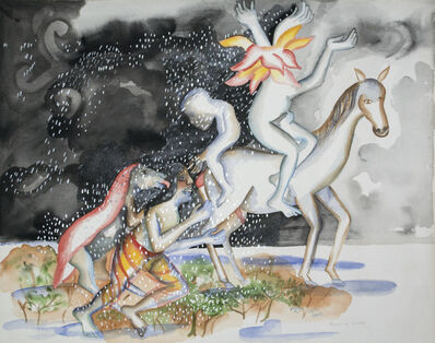 Bhupen Khakhar, 'Rains on Lovers', 2002
