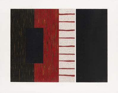 Sean Scully, 'With red ', 1993